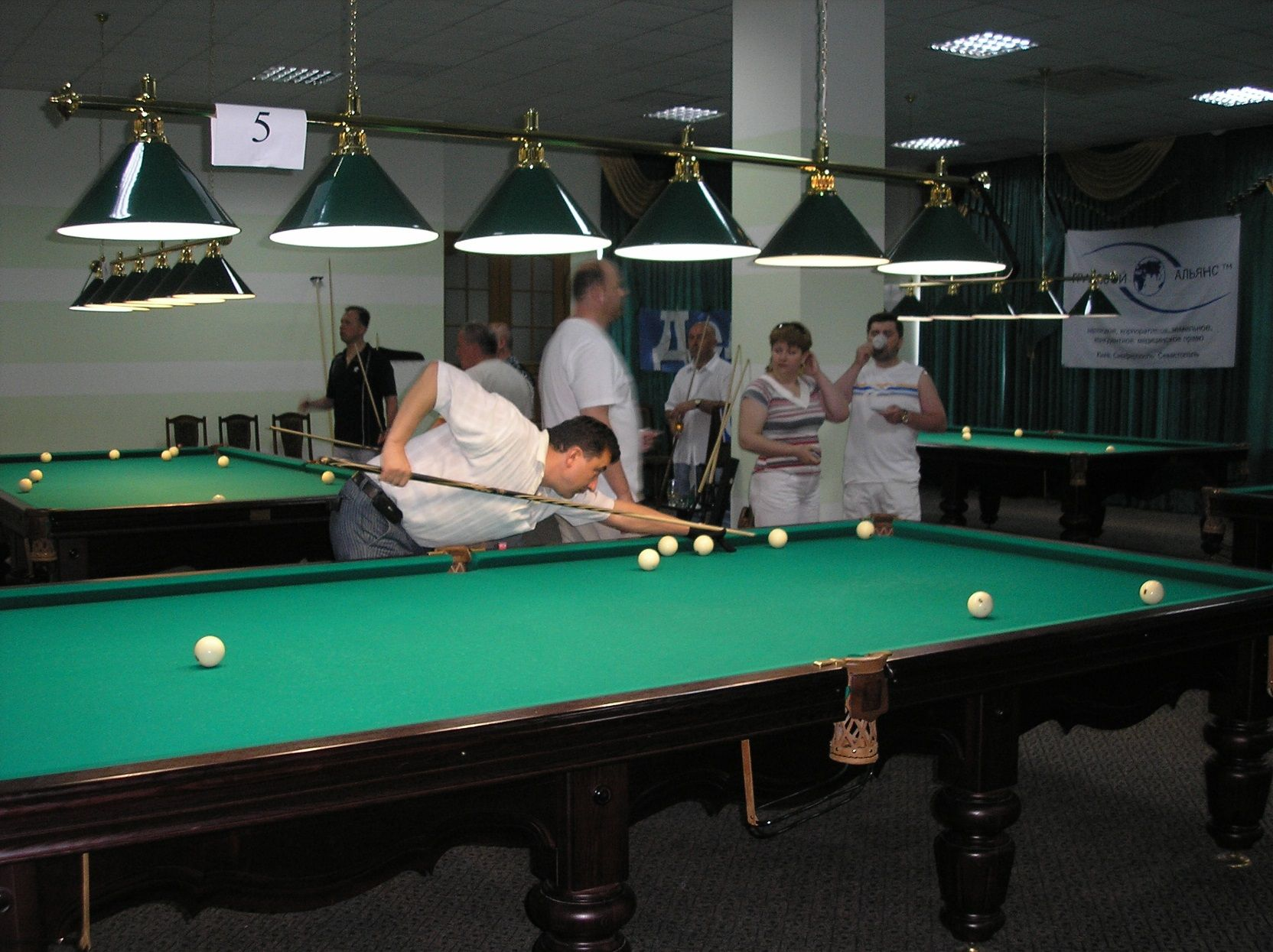 Billiards in the TAHC «Sudak»
