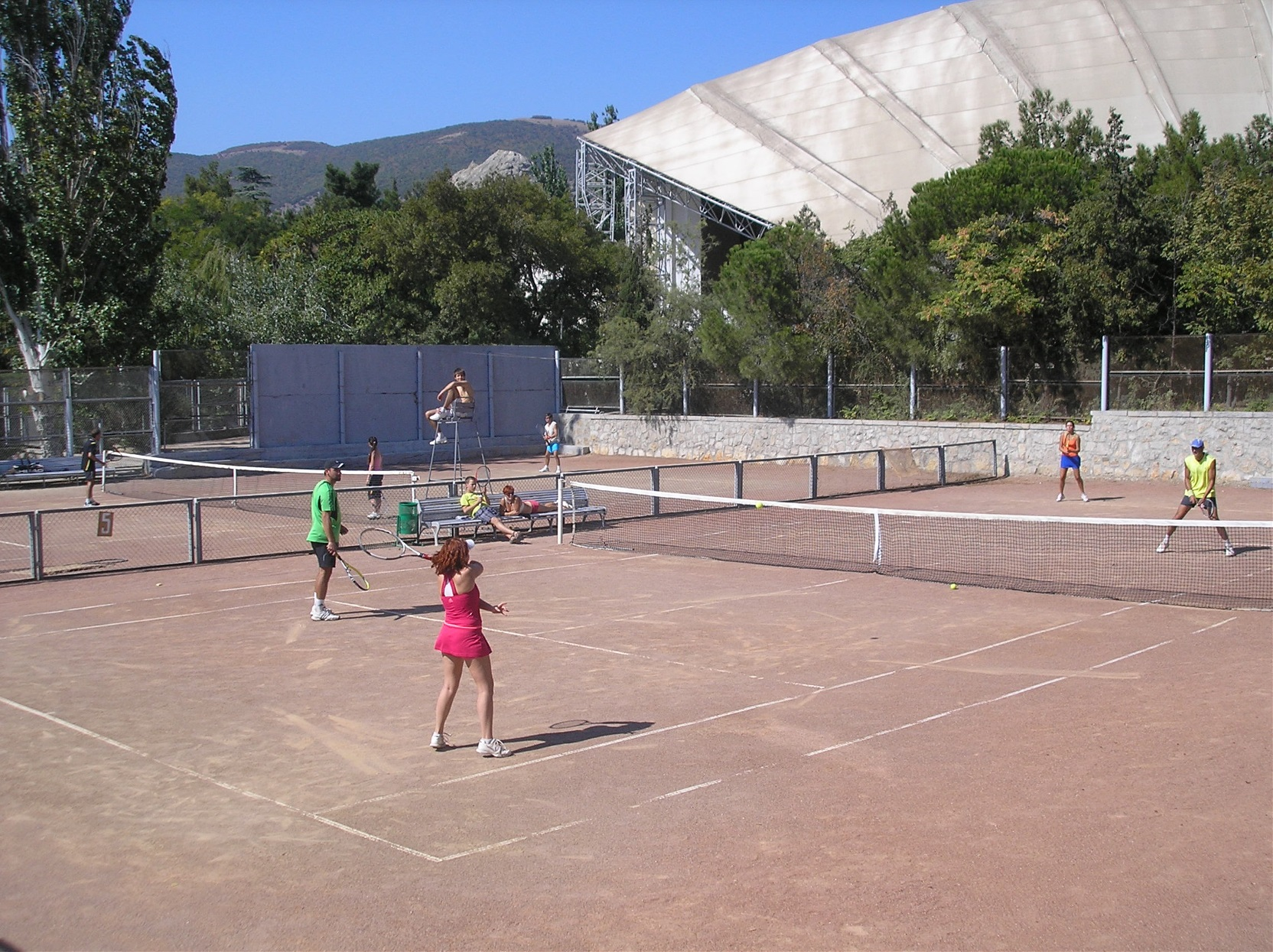 Tennis courts in the TAHC «Sudak»